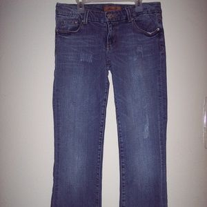 Seven 7 Bootcut Distressed Jeans Size 28